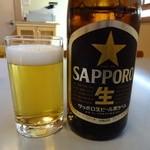 蕎香 - サッポロ黒生 中瓶
