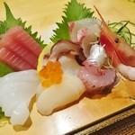 ゆとろ嵯峨沢の湯 - 料理写真:お刺身定食