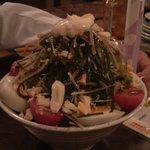 焼鳥家 - 料理写真:焼鳥屋のサラダ。このボリュームで700円!
