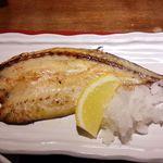薩州美味しげぞう - ランチ 焼き魚 かますの開き 炭火で焼いてくれます