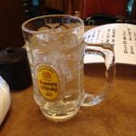馬鹿うま - お水はジョッキで提供されます。 お酒ではありません。