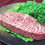 焼肉の浩養園 - 料理写真:黒毛和牛 イチボステ-キ【A5等級】