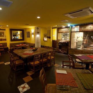 1930年代のクラシカルなメキシコを再現した陽気なレストラン