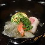 御料理 堀川 - ☆蟹真丈と桜と鯛の組み合わせと白きくらげの煮物椀(≧▽≦)/~♡☆