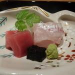 御料理 堀川 - ☆しっとり鮪&鯛のお造り☆