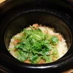 御料理 堀川 - ☆土鍋ごはん…本日は若ごぼうと鶏肉☆