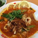 太陽のトマト麺 - 地中海風 真イカのガリシアトマト麺