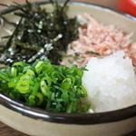 そば岡本 - そば岡本・割子薬味(2014.12)