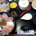 36425044 - 海鮮丼のランチメニューです。