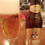 ラ・メゾン・ド・カリークゥー - エビスビールを2本飲んだ