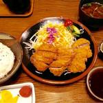 36434272 - ヒレカツ定食 & カレーソース