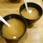 麺座 風水 - 201503スープ割りも美味♪