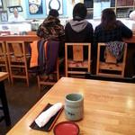 四季の寿司処 すしまる - カウンター席