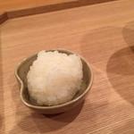 壽山 - 飯蒸し 肝ソースにいれる!旨い(゚∀゚)