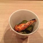 壽山 - 蒸鮑、肝ソース ばちこ
