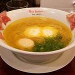 黄金の塩らぁ麺 ドゥエイタリアン - 生ハムフロマージュ(1180円)