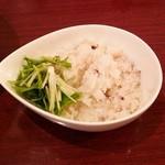 黄金の塩らぁ麺 ドゥエイタリアン - 美人玄米ご飯(リゾット用)