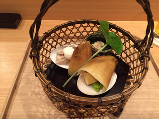 壽山 - 蛤や筍、鯛の子など