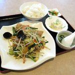 中華ダイニング 桂彩魚 - 料理写真:野菜炒め定食(2015/03/31撮影)
