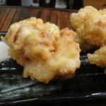 朝打ちうどん 大鶴製麺処 - 鶏てん 3個250円