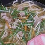 得得 - 料理写真:「イベリコ豚と水菜のハリハリうどんセット」(1,058円)