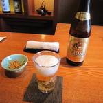 蕎・馳走 岩舟 - 「瓶ビール」(2015/3)