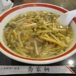 上海料理 飲茶 喬家柵 - 咸菜肉丝面(豚肉と高菜そば)