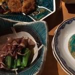 おいしいいっぷく鏑木 - ホタルイカはほぼ娘が食べました。