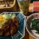 おいしいいっぷく鏑木 - ヒレかつも良いお肉で美味♫