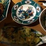 おいしいいっぷく鏑木 - 青野菜のチヂミも美味しかった。