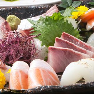 鮮魚の刺身盛り合わせ(仕入れにより内容は異なります)