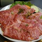 びんちょう炭焼肉 - 100407 上カルビ