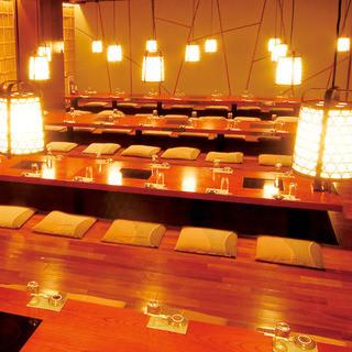 宴会個室完全個室は2~100名様まで