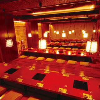 江戸町の雰囲気が楽しめる個室完備!2~100名様までOK!