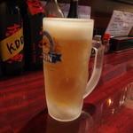 かまくら - セルフ方式の生ビール