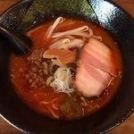 らーめん漢 - 特製辛味噌らーめん、1辛(690円)