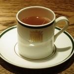 バー オーディン - 自家製有機生姜風味のダブルコンソメスープ