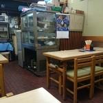 しろちゃん - 店内はテーブル席が5つと奥にカウンターがありました
