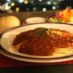 カフェレストラン クローチェ - ミートソースパスタ