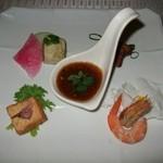 モンスレー - 中華前菜4種盛り、冷製麻婆ソースにて