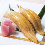 入母屋 - ■煮穴子のにぎり寿司…750円 酢飯の上に、柔らかく煮た穴子を乗せた、にぎり寿司です,「赤出し」のお椀と一緒にご提供いたします!