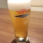 とんど - 生ビール<税抜>500円(2015.04.01)