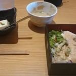 36495930 - サラダと豆腐&鳥スープ