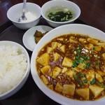 36496333 - 「麻婆豆腐定食」700円也。税込。