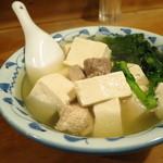 大衆割烹 三州屋 神田本店 - 名物の鳥豆腐
