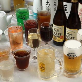 全50種類以上のドリンク◆中華料理にぴったりのお酒がずらり!