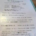 田園喫茶 Wild berry - メニュー・・ソマリアンチキンカレーセット1050円を注文。
