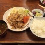 天重 - 豚の生姜焼き(930円)