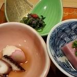 旅館 大村屋 - 鯛の真子、さくら豆腐など