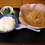 麺房てっぺん - ねぎチャーシューラーメンとライス